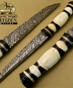 Damascus Steel Hunting Bowie Knife