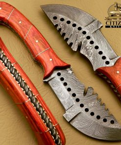 DAMASCUS STEEL TRACKER KNIVES