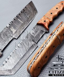 DAMASCUS STEEL TRACKER KNIFE
